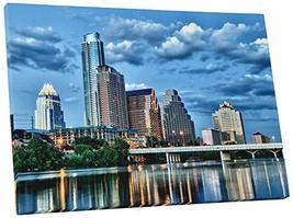 "Pingo World 0706QZWRNAA ""Austin Downtown Skyline"" Gallery Wrapped Canvas Wall Ar - $57.37"