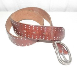 Fossil Brown Leather Studded Belt BT2861200 Small - $4.95