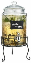 Classic Beverage Drink Dispenser Hammerd Durable Glass on Stand 1.5 Gall... - $65.81 CAD