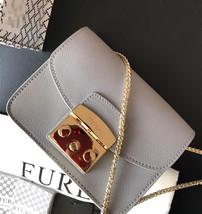 FURLA METROPOLIS Mini Crossbody Bag Grey Auth - $199.00