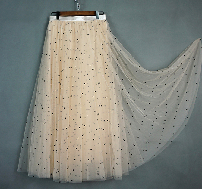 Cream tulle skirt 2