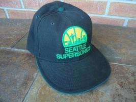 SEATTLE SUPERSONICS NEW ERA FITTED 7 1/2 CAP W/ NBA BILL STICKER - ₹1,452.76 INR