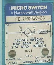 HONEYWELL MICRO SWITCH FE-LPK03C-2S 120VAC 50/60HZ FELPK03C2S image 4