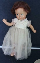 """Vintage 13"""" Composition Doll Ballerina Painted Eyes Red Hair Excellent C... - $61.38"""