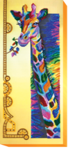 "Bead Embroidery DIY Kit ""Rainbow giraffe"" 9.8""х22.0"" - $73.95"
