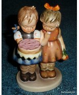 """Happy Birthday"" Hummel Figurine #176/0 TMK3 Two Girls With Birthday Cake - GIFT - $135.79"