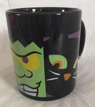 Halloween Mug Black Cat Frankenstein Pumpkin Coffee Cup Hallmark - $11.99