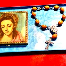 Beautiful Handmade Wooden Rosary Bracelet - $20.79