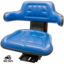 Blue FORD/NEW Holland 6600 6610 7000 7600 7610 Universal Tractor Suspension Seat - $98.99