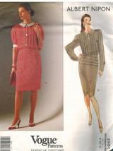 2501 sin Cortar Vogue Patrón de Costura Misses Vestido Albert Nipon Amer... - $9.94
