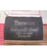 Flexographic Printing Plate Rubber Stamp - Taystee Buttermilk Bread - $8.55