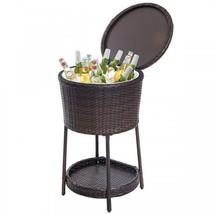 Wine Ice Bucket Wicker Patio Standing Drinks Cooler Beer Champagne Party... - $2.404,08 MXN
