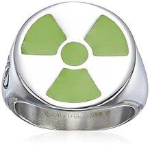 Marvel Comics Men's Stainless Steel Enamel Hulk Ring, Size 9
