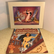 Vintage Walt Disney Litho Poster Picture Poster Lithograph Bag Pocahontas World - $24.49