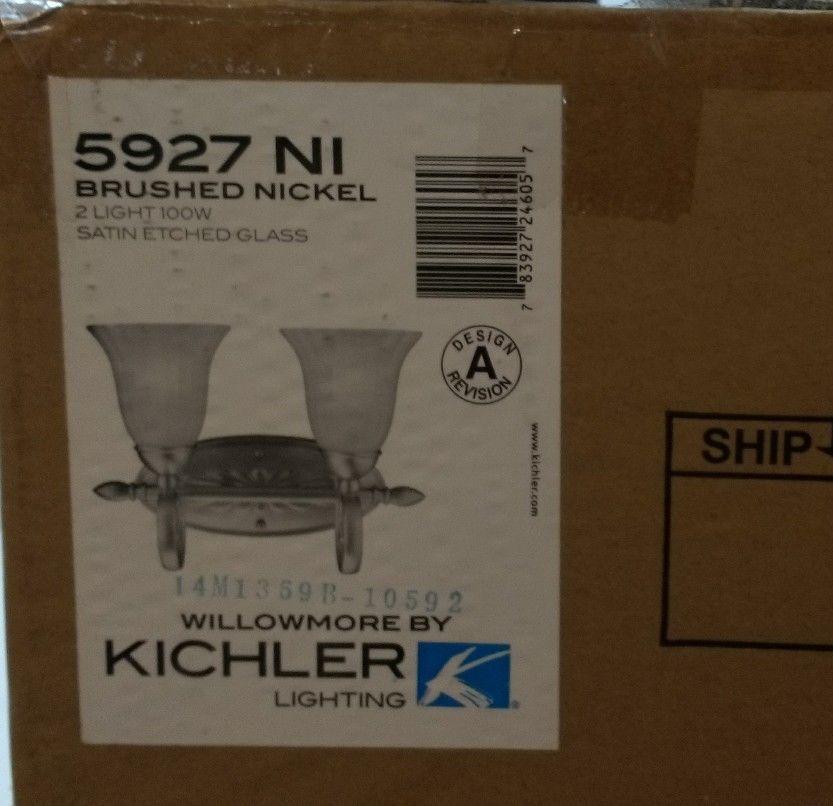 Kichler 5927NI Willowmore Glass Wall Vanity and 14 similar items