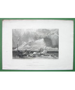 GIBRALTAR View from Sea - 1833 Antique Print Engraving - $12.60