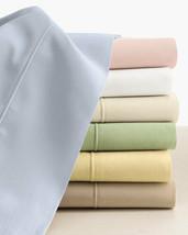 Sferra Marcus Solid Green Cal King Sheet Set 4PC Neiman Cotton Sateen 400TC NEW - $180.00
