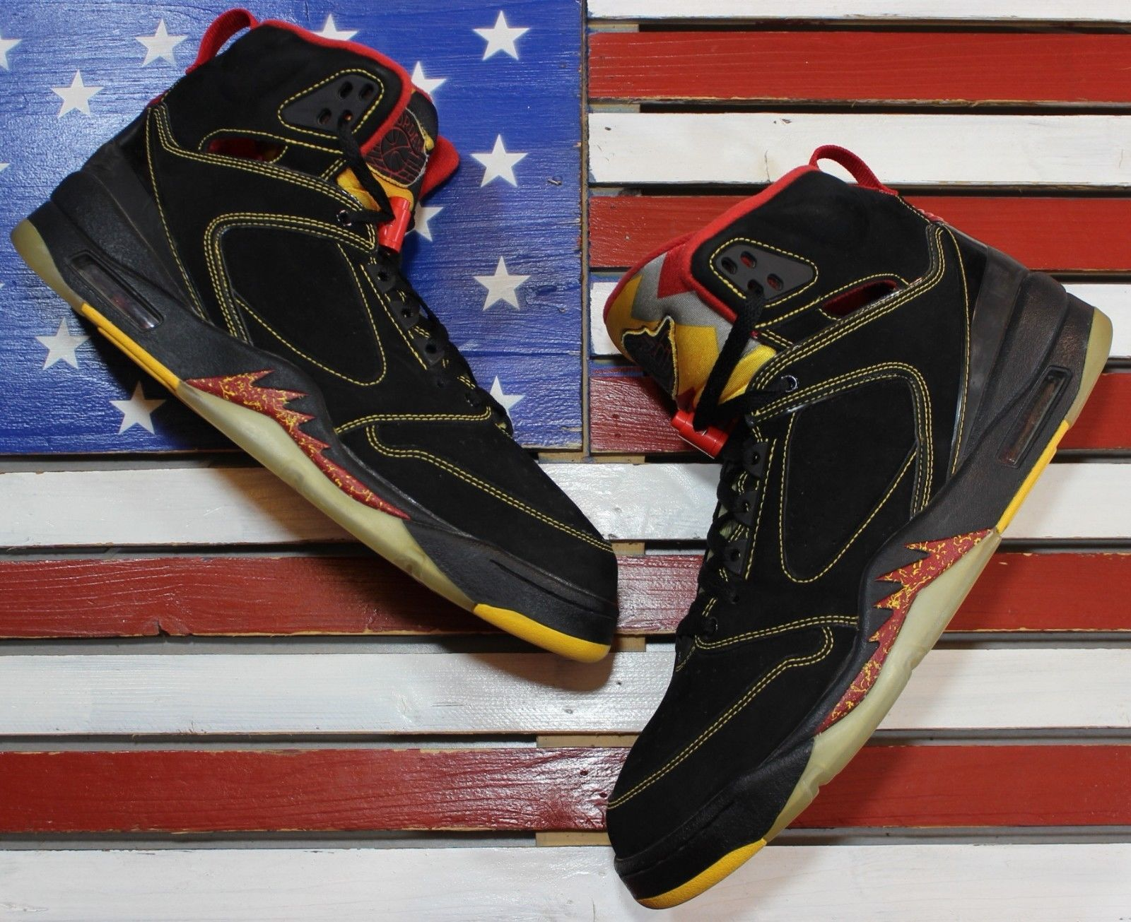 4093eb9ff3 Nike Air Jordan SIXTY PLUS V Atlanta Hawks Black Basketball Shoe 364806- ...