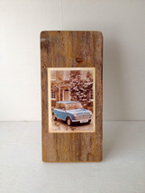 Rustic Decoupage - Item 2525 - Iconic Old Mini' -  5 x 11 - Reclaimed Wo... - $27.50
