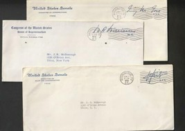 1958 US Free Frank Official  Covers 2 senate 1 Congres VF - $8.91