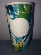 Starbucks Hawaii Collection 2016 Ceramic Tumbler 12 Oz. New From Hawaii Limited - $34.64
