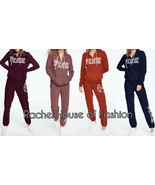 Victoria's Secret PINK EVERYDAY LOUNGE PERFECT FULL-ZIP & CLASSIC PANT S... - $94.99
