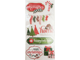 Crate Paper Christmas Holiday Dimensional Chipboard Sticker Set #680443