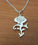 Pendant - Rose Symbol - Remembrance - 925 Silver - Handmade - $55.00