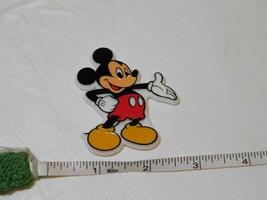 Vintage Disney Mickey Mouse Magnet Hard Plastic Monogram Refrigerator Fridge - $15.78