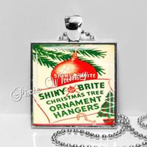 VINTAGE CHRISTMAS ORNAMENT Hangers Pendant Necklace, Christmas Ornaments... - $11.95