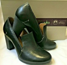 CLARKS ARTISAN LEOSA SADIE BLACK LEATHER SHOES SIZE 5 FIT D *WORN ONCE* - $29.90