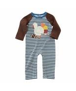 NWT Mud Pie Turkey Football Applique Baby Boys Long Sleeve Romper - $19.99