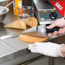 """10"""" Stainless Steel Waffle Cone Maker Ice Cream Roller Mold Big Rolling ... - $81.62"""