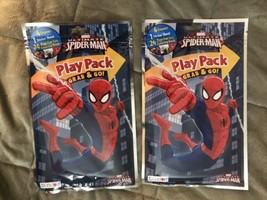 2 Of Marvel Ultimate Spiderman Play Pack Crayon Stickers Coloring Book B... - $4.99