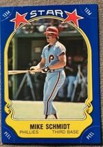 1981 Fleer Star Stickers #128 Mike Schmidt Philadelphia Phillies Basebal... - $0.98