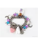 White Rabbit Charm Bracelet, Kawaii Jewelry, Japan, Handmade, OOAK - $41.00