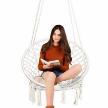 TOPWAY Hammock Chair Macrame Swing, 330 Pound Capacity, Hanging Chair wi... - $64.59