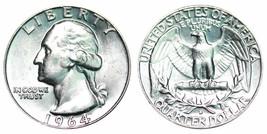 1964 D BU Silver Washington Quarter CP1098 - $7.95