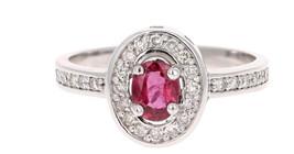 925 Sterling Silver Natural A+ Quality Ruby And Cz Gemstone Handcrafted Design W image 1
