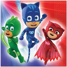 PJ Masks Lunch Napkins 16 Per Package Birthday Party Supplies NEW - $4.90