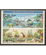 The World of Dinosaurs, Sheet of 32 cent stamps, 15 stamps total - $7.50