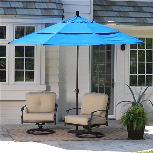 11-Ft Tilting Patio Umbrella in Pacific Blue