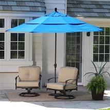 11-Ft Tilting Patio Umbrella in Pacific Blue image 1