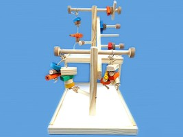 All wood bird play gym for amazons, greys, mini macaws-hand made double ... - £39.67 GBP