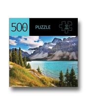 """8+Lake/Mountains Design Jigsaw Puzzle 500 pc 28"""" x 20"""" Durable Fit Pieces Leisur"""