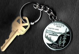 State of OREGON Quarter Keychain Key Chain - $5.88