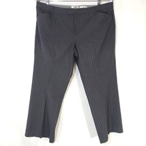 Old Navy Dress Pants Women Size 20 Gray Blue Pinstripe Stretch Rayon Career - $17.80