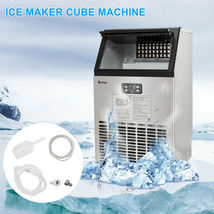 270W-500W 99Lbs 115V 60Hz Stainless Steel Commercial Ice Maker Black US Plug image 5