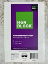 H&R Block Tax Software 2020 Deluxe Federal State w/Bonus - $12.99