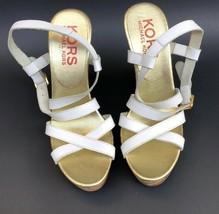 Kors  By Michael Kors Size 7 1/2 White Wedge Heel Sandal - $38.00
